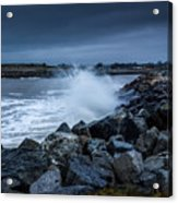 Storm Over The Jetty 1 Acrylic Print
