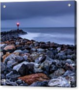 Storm Over The Jetty 2 Acrylic Print