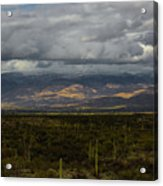 Storm Over The Mountains Of Arizona Acrylic Print