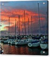 Storm Over The Newport Harbor Acrylic Print
