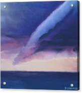 Storm Over The Lake At Sunset Acrylic Print
