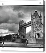 Storm Over Tower Bridge Acrylic Print