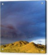 Storm Rolling Across Sun Dappled Mountains Acrylic Print