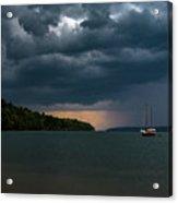 Storm Schooner Acrylic Print