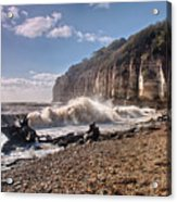 Storm Tide Cliffs End Acrylic Print