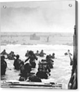 Storming The Beach On D-day  Acrylic Print