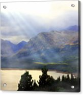 Storms A Coming-lower Two Medicine Lake Acrylic Print