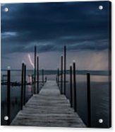 Storms On The Dock Acrylic Print