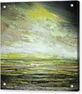 Stormsand Beach Textures No2yellow Acrylic Print