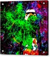 Star Wars Stormtrooper And Fire Acrylic Print