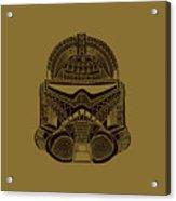 Stormtrooper Helmet - Star Wars Art - Brown  Acrylic Print