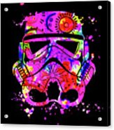Stormtrooper Mask Rainbow 10 Acrylic Print