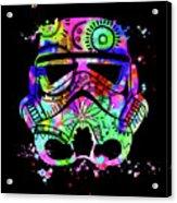 Stormtrooper Mask Rainbow 6 Acrylic Print