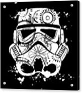 Stormtrooper Mask White Black 5 Acrylic Print