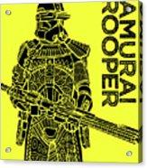 Stormtrooper - Yellow - Star Wars Art Acrylic Print