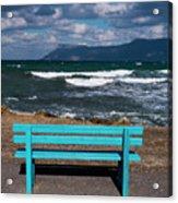 Stormy Aegean Sea Acrylic Print