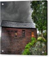 Stormy Barn Acrylic Print