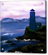 Stormy Blue Night Acrylic Print