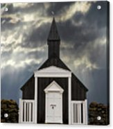 Stormy Day At The Black Church Acrylic Print