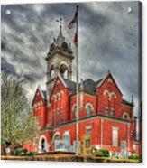 Stormy Day Jones County Georgia Court House Art Acrylic Print