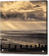 Stormy English Coastal Seascape Acrylic Print