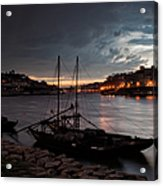 Stormy Evening Sky Above Porto And Gaia Acrylic Print