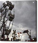 Stormy Ferris Wheel Acrylic Print