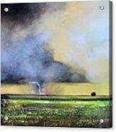 Stormy Field Acrylic Print