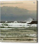 Stormy Fishing Acrylic Print