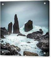 Stormy Iclandic Seas Acrylic Print