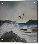 Stormy Inlet Acrylic Print