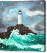 Stormy Ligthouse Acrylic Print