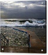 Stormy morning at Collaroy Acrylic Print