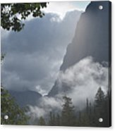 Stormy Morning In Glacier Acrylic Print