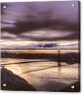 Stormy Morning Sf Bay Bridge Acrylic Print