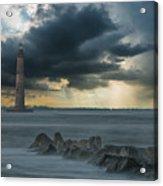 Stormy Morris Island Acrylic Print