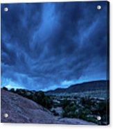 Stormy Night Sky Arches National Park - Utah Acrylic Print