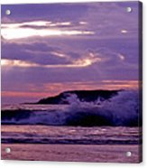 Stormy Ocean Panoramic  Acrylic Print