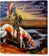 Stormy Prairie Acrylic Print