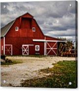 Stormy Red Barn Acrylic Print
