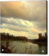 Stormy River Acrylic Print