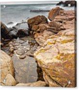 Stormy Rock Beach Acrylic Print