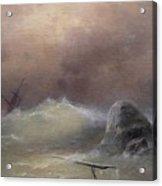 Stormy Sea 1887 Ivan Konstantinovich Aivazovsky Acrylic Print
