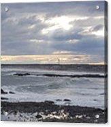 Stormy Seas And Sky Acrylic Print