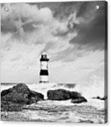 Stormy Seas Black And White Acrylic Print