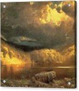 Stormy Skies Above Echo Lake White Mountains  Acrylic Print