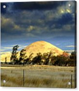 Stormy Skies Over Sunset Cinder Cone Acrylic Print