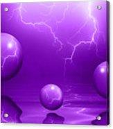 Stormy Skies - Purple Acrylic Print