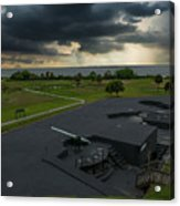 Stormy Sky Over Fort Moultrie Acrylic Print