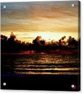 Stormy Sunrise Over The Ocean  Acrylic Print